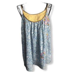 Lux Embroidered Beaded Tank Top Medium